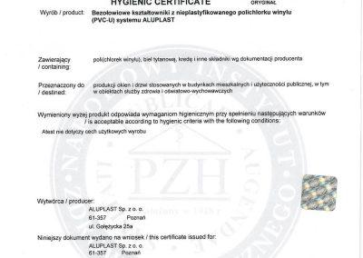 ALUPLAST ID4000 Atest higieniczny PZH_CaZn_2012