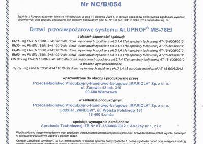 Certyfikat ppoż 2015-1