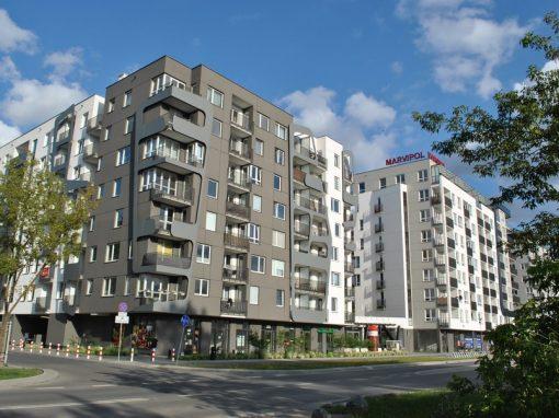 Der in der Kłobuckastraße befindene Central Park Ursynów in Warschau