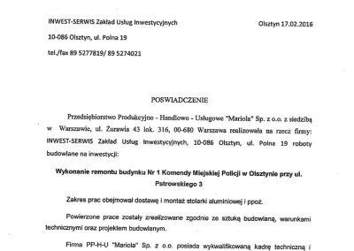 referencje Inwest-Serwis Olsztyn Alu